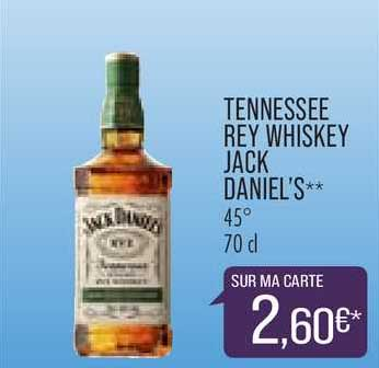Match Tennessee Rey Whiskey Jack Daniel's
