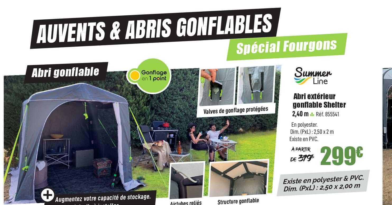 Narbonne Accessoires Abri Extérieur Gonflable Shelter Summer Line