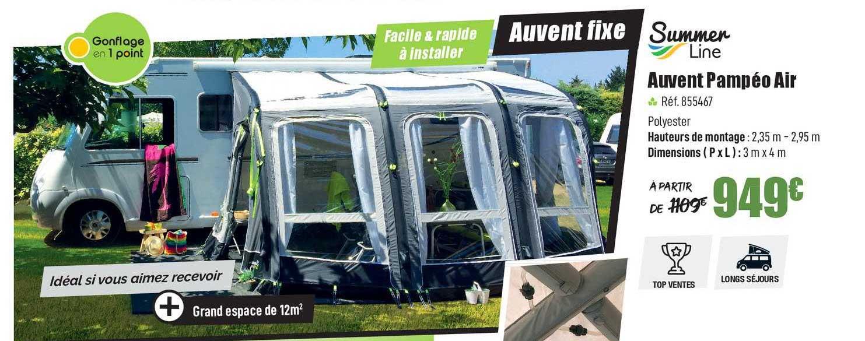 Narbonne Accessoires Auvent Pampéo Air Summer Line