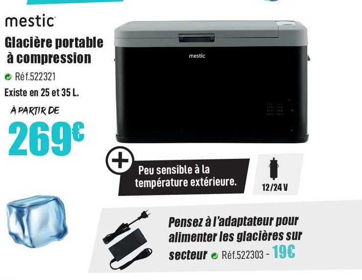 Narbonne Accessoires Mestic Glacière Portable à Compression