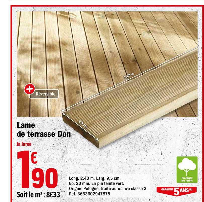Offre Lame De Terrasse Don Chez Brico Depot