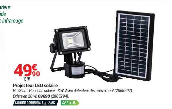 offre projecteur led solaire chez bricorama