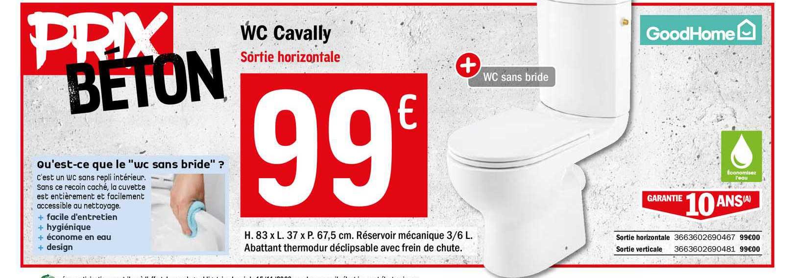 Offre Wc Cavally Chez Brico Depot