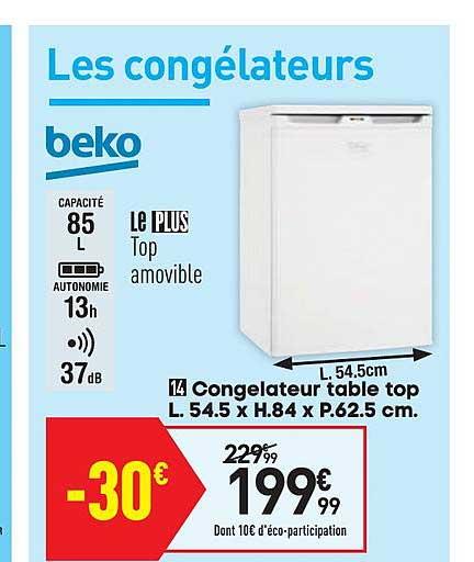 Offre Congelateur Table Top Chez Conforama