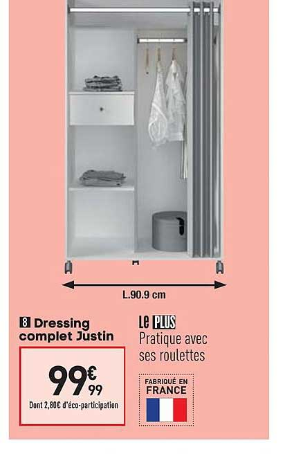 Offre Dressing Complet Justin Chez Conforama