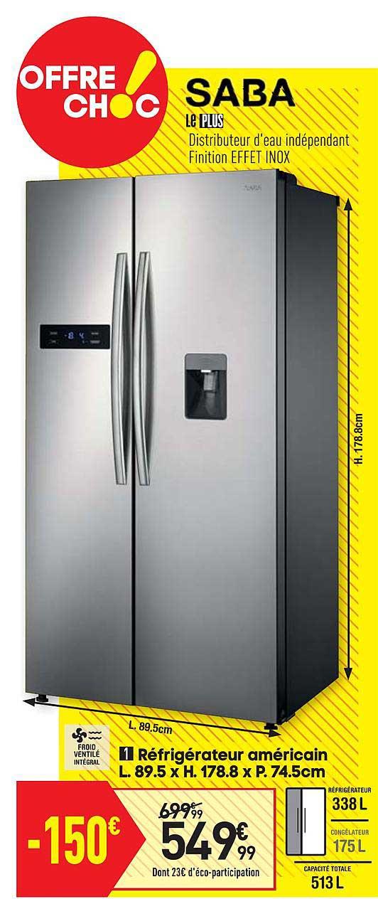 Conforama Réfrigérateur Américain