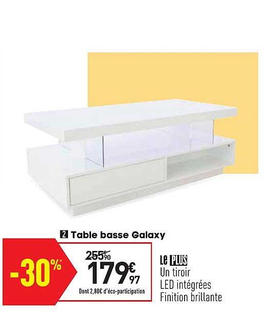 Offre Table Basse Galaxy Chez Conforama