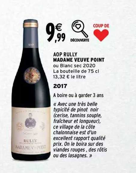 Intermarché Aop Rully Madame Veuve Point 2017