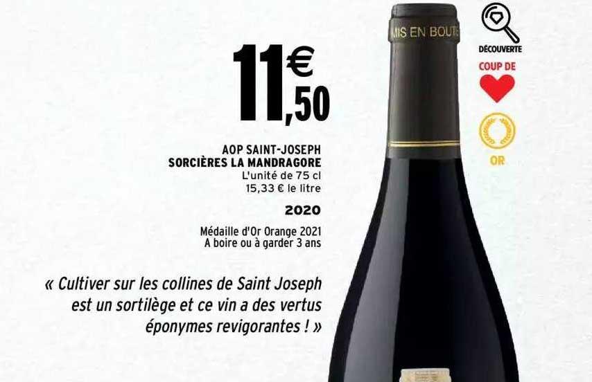 Intermarché Aop Saint-joseph Sorcières La Mandragore 2020