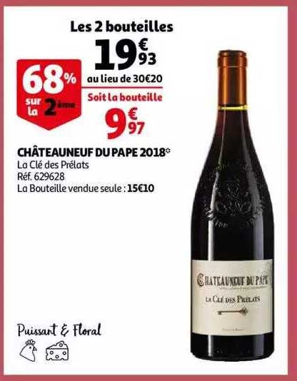 Auchan Châteauneuf Du Pape 2018 La Clé Des Prélats