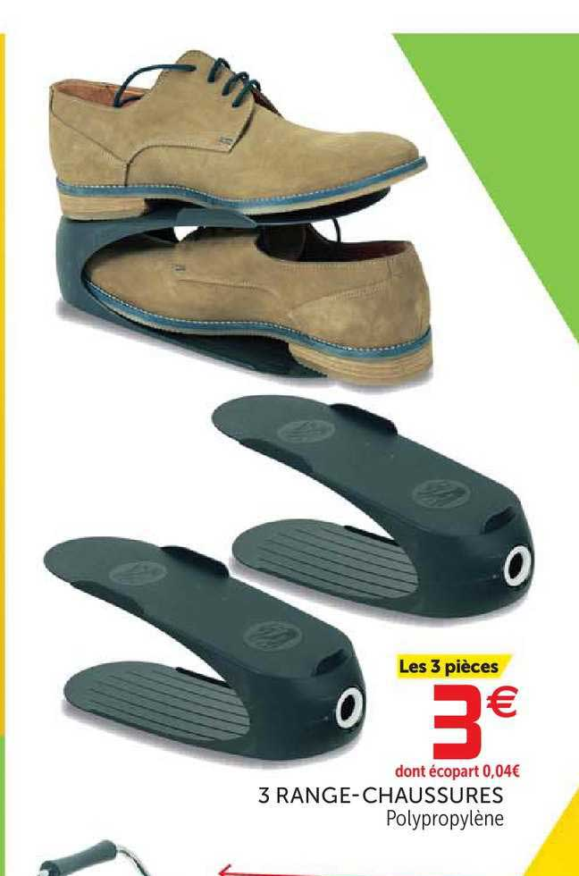 Offre 3 Range Chaussures Chez Gifi