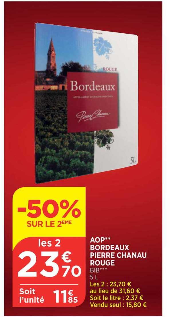 Bi1 Aop Bordeaux Pierre Chanau Rouge -50% Sur Le 2ème