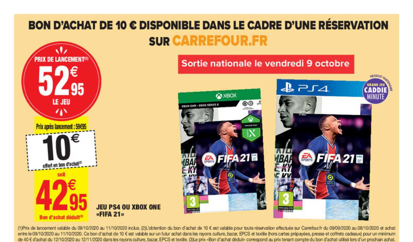 Carrefour Market Jeu Ps4 Ou Xbox One Fifa 21