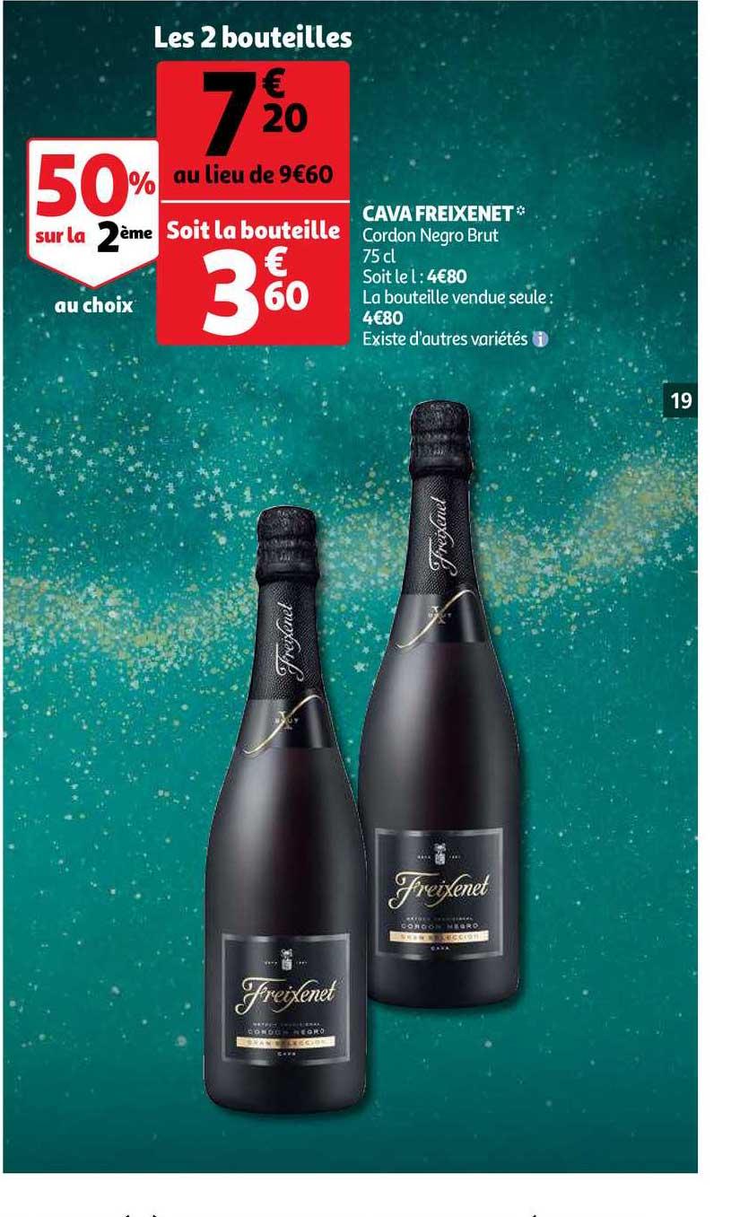 Auchan Cava Freixenet 50% Sur La 2ème Au Choix