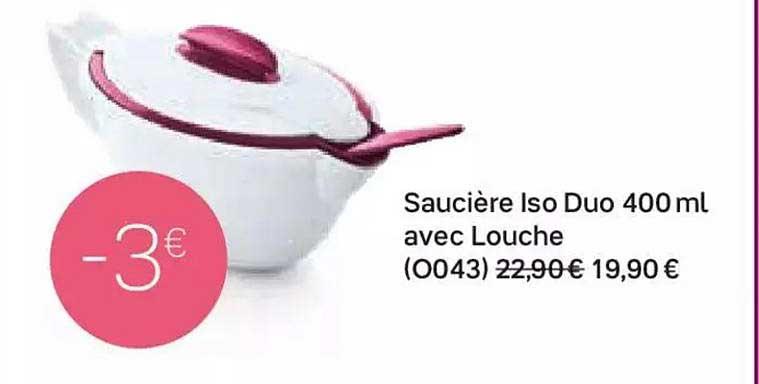 Tupperware Saucière Iso Duo 400 Ml Avec Louche