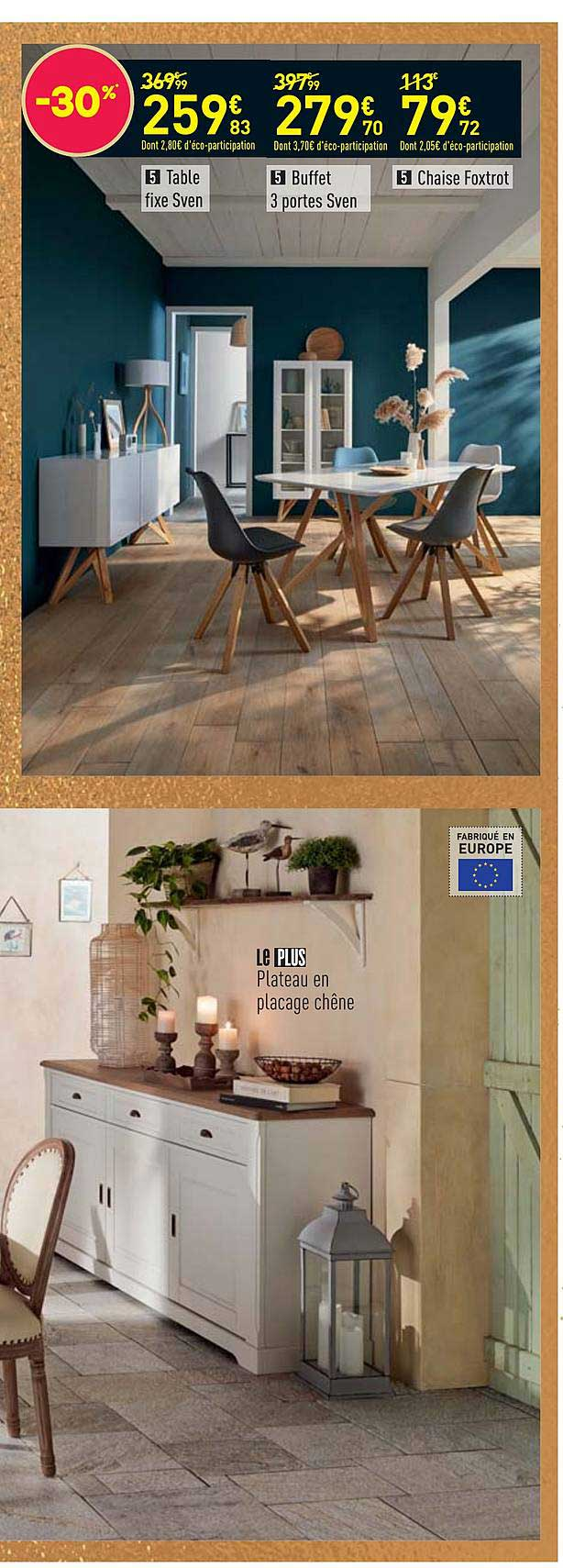 Offre Set Table + 6 Chaises Featuring chez Conforama