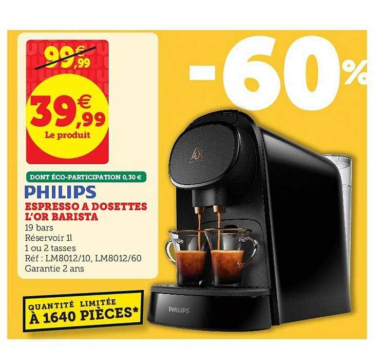 Super U Espresso à Dosettes L'or Barista Philips