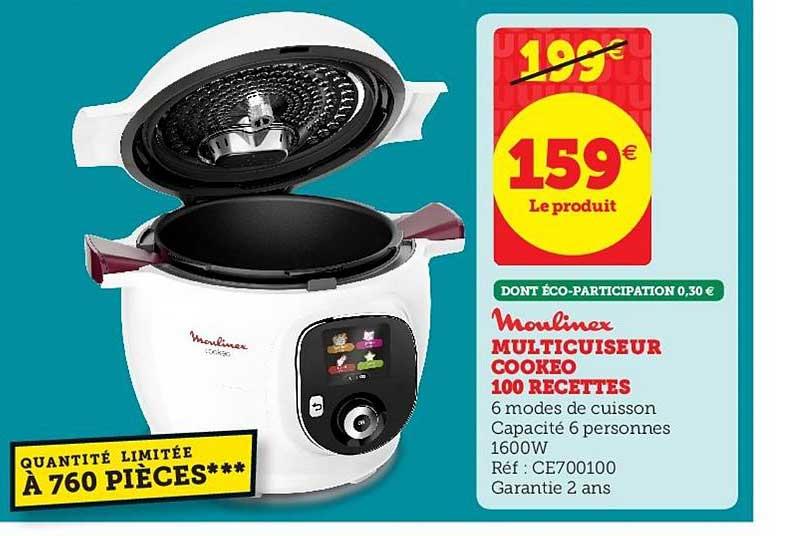 Super U Multicuiseur Cookeo 100 Recettes Moulinex