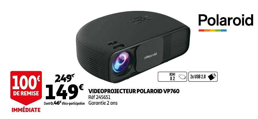 Auchan Videoprojecteur Polaroid Vp760