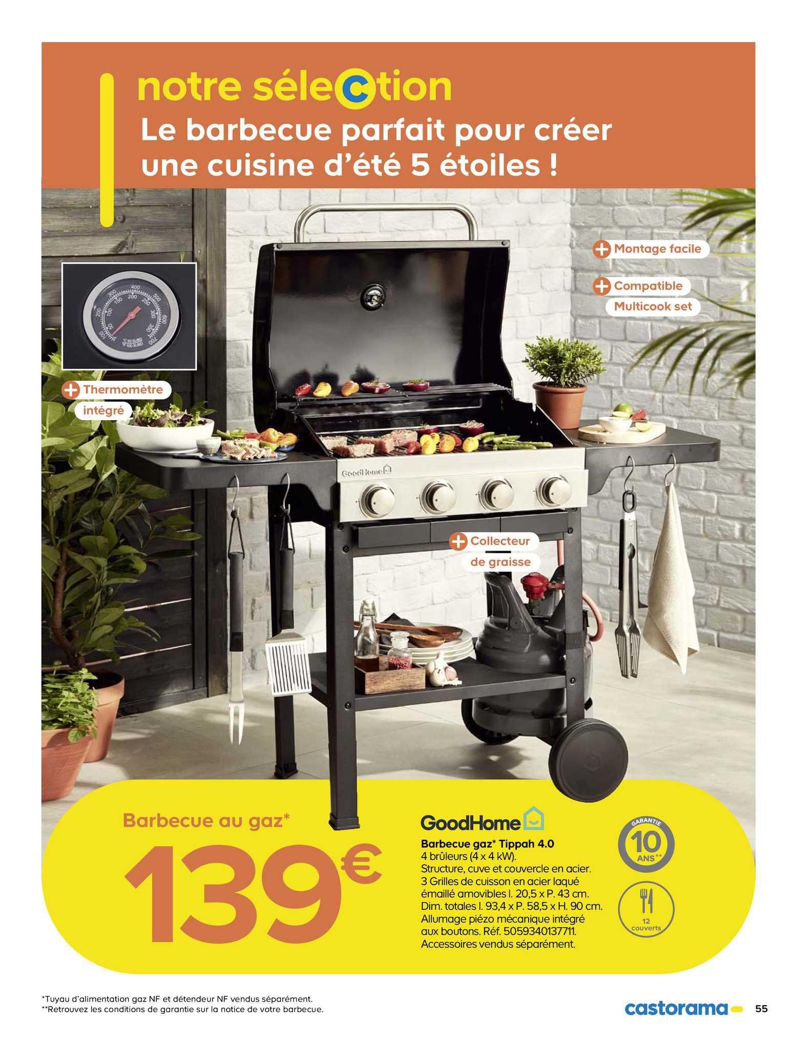 Castorama Barbecue Gaz Tippah 4.0 Goodhome