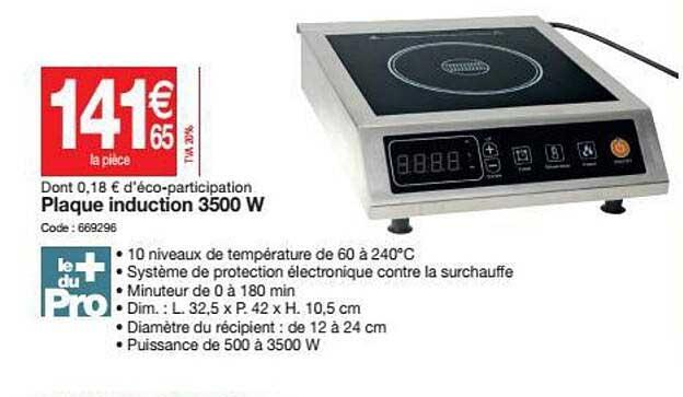 Promocash Plaque Induction 3500 W