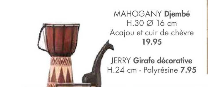 Casa Djembé Mahogany, Girafe Décorative Jerry