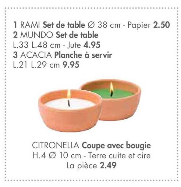 Casa Set De Table Rami, Set De Table Mundo, Planche à Servir Acacia
