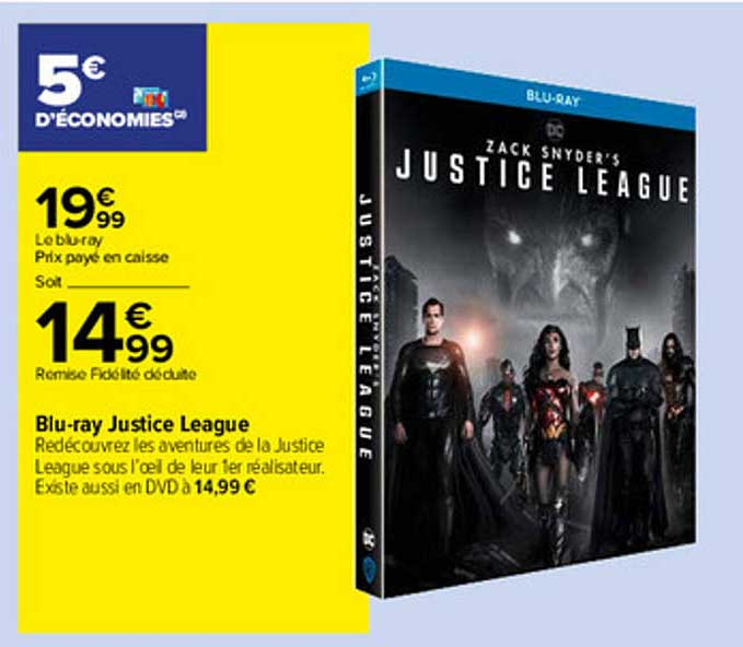 Carrefour Blu-ray Justice League