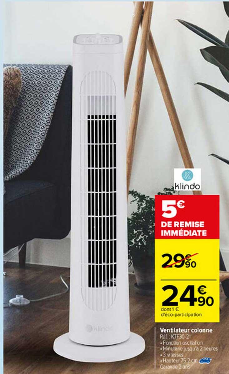 Carrefour Ventilateur Colonne Klindo