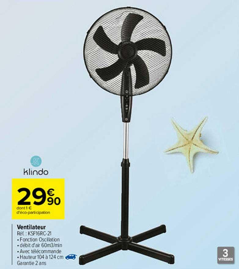 Carrefour Ventilateur Klindo
