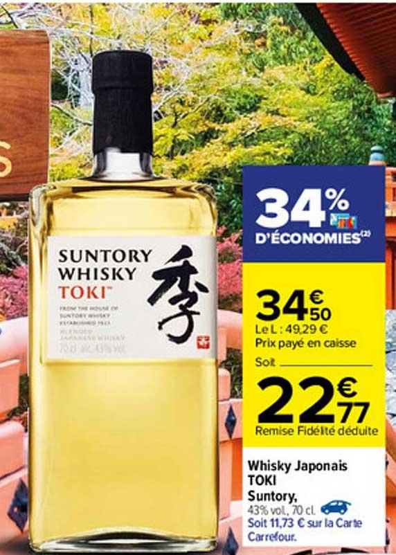 Carrefour Whisky Japonais Toki Suntory