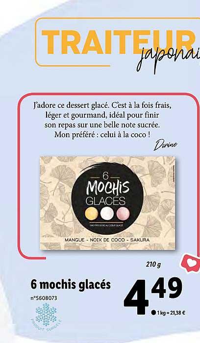Lidl 6 Mochis Glacés