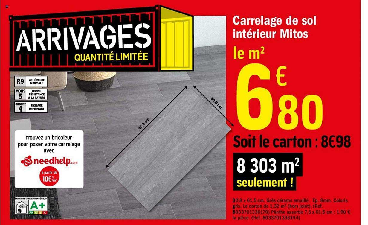 Offre Carrelage De Sol Interieur Mitos Chez Brico Depot
