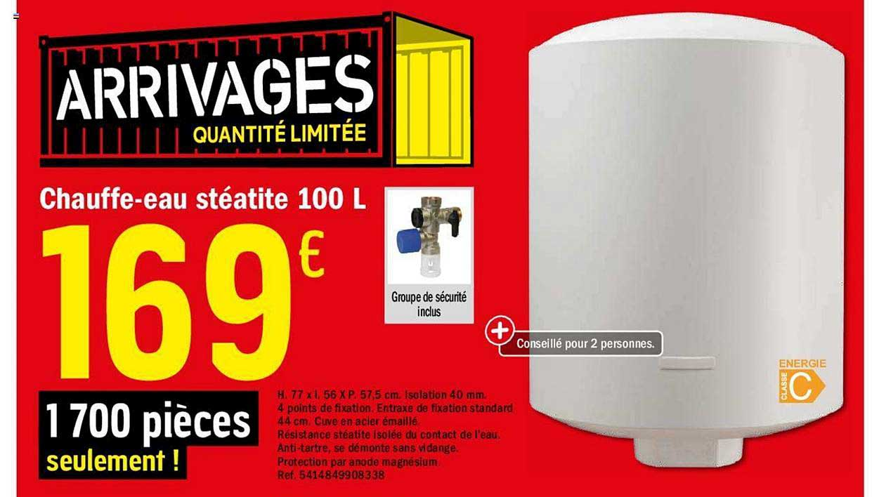 Offre Chauffe Eau Steatite 100 L Chez Brico Depot
