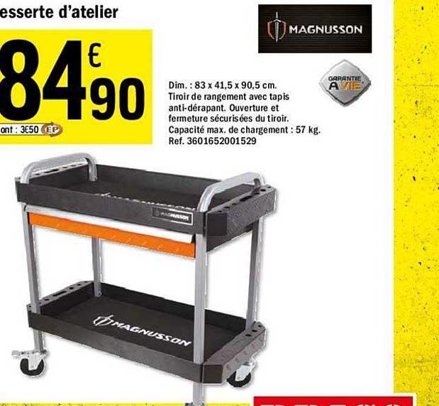 Offre Desserte D Atelier Magnusson Chez Brico Depot