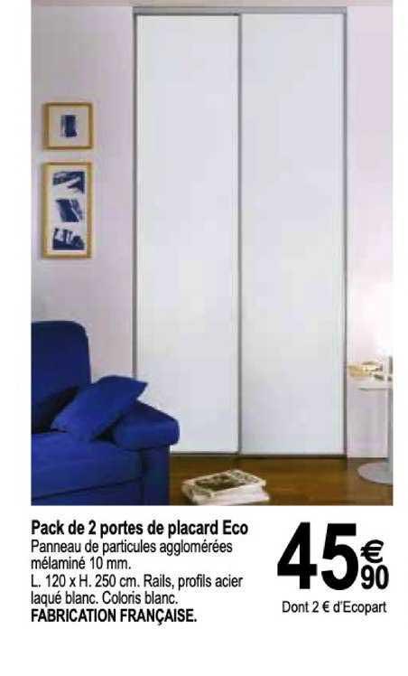 Tridôme Pack De 2 Portes De Placard Eco