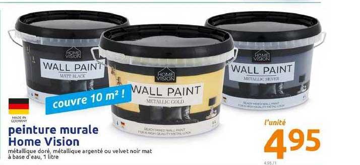 Offre Peinture Murale Home Vision Chez Action