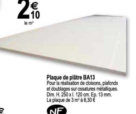 Tridôme Plaque De Plâtre Ba13