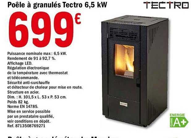 Offre Poele A Granules Tectro 6 5 Kw Chez Brico Depot