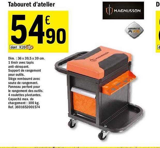 Offre Tabouret D Atelier Magnusson Chez Brico Depot