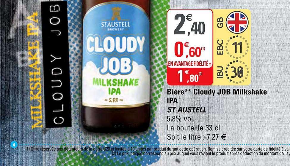 G20 Bière Cloudy Job Milkshake Ipa St Austell