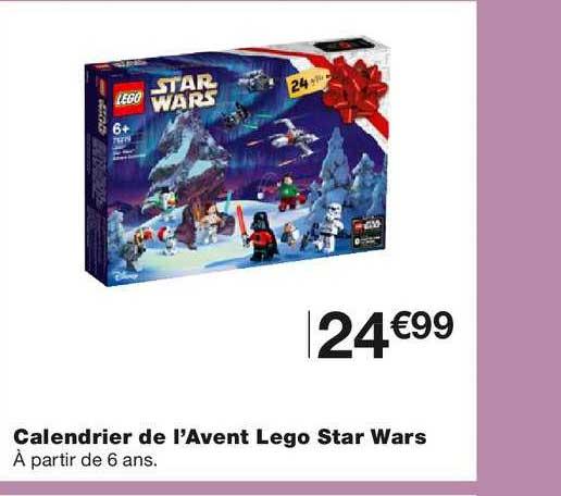 Offre Calendrier De L'avent Lego Star Wars chez Monoprix