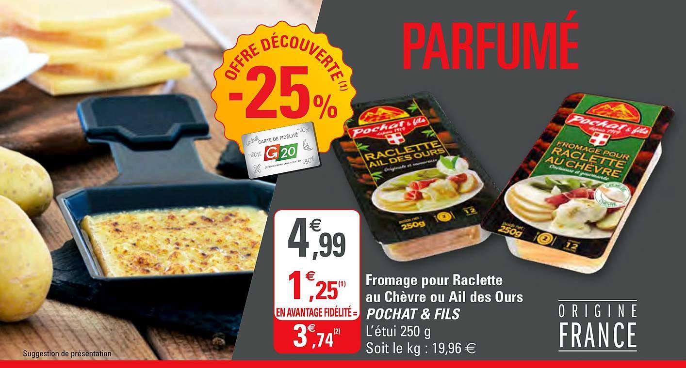 G20 Fromage Pour Raclette Au Chèvre Ou Ail Des Ours Pochat & Fils