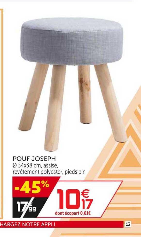 Offre Pouf Joseph Chez Gifi