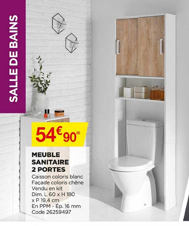 Offre Meuble Sanitaire 2 Portes Chez Bricomarche