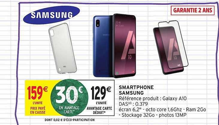 Intermarché Smartphone Galaxy A10 Samsung