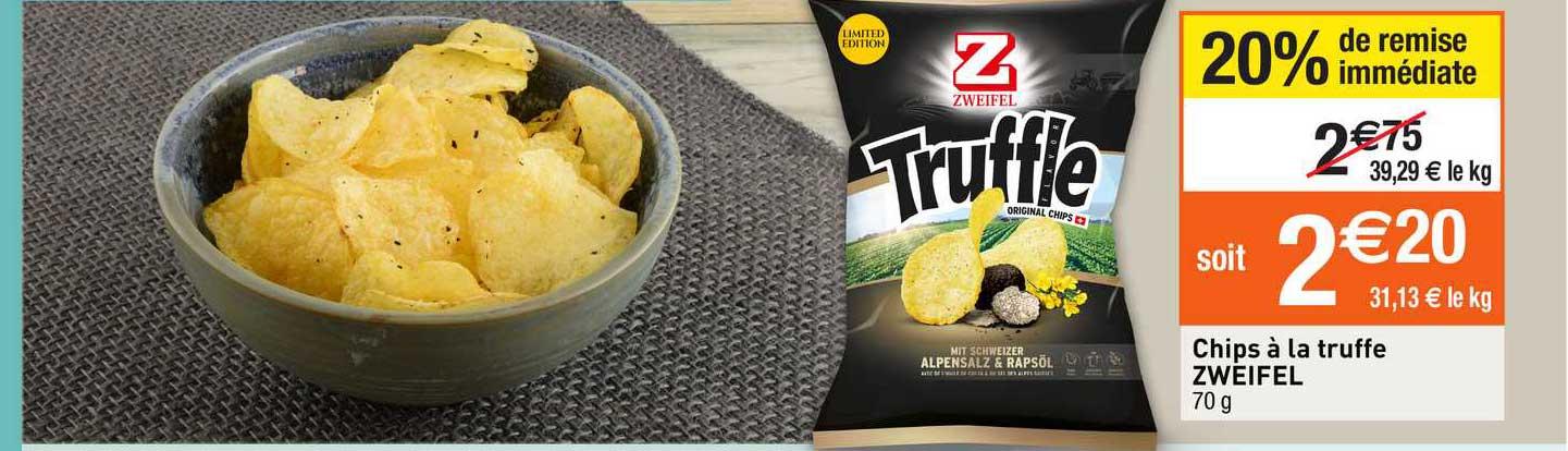 Migros France Chips à La Truffe Zweifel