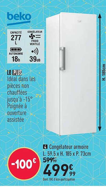 Offre Congelateur Armoire Beko Chez Conforama
