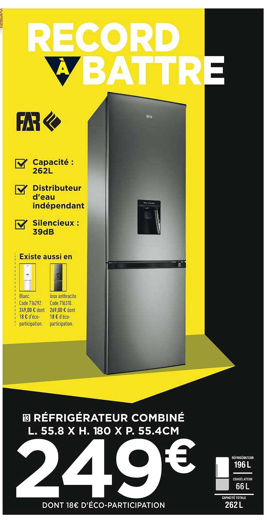 Conforama Réfrigérateur Combiné Far