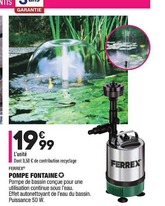 Aldi Ferrex Pompe Fontaine